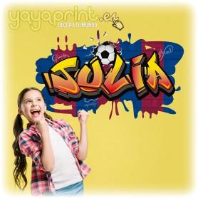 Nombre de Julia en Graffiti del FC Barcelona. El vinilo decorativo más culé