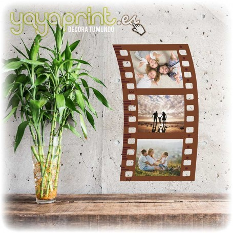 Vinilo decorativo de fotograma para colocar tus fotos favoritas. Una decoración original para tu pared.