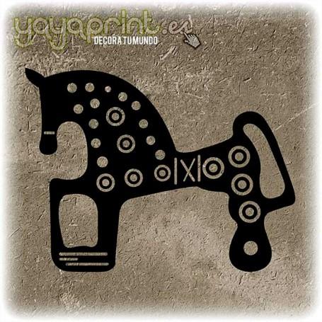 Pegatina del caballo de Soria o caballo de Numancia. El vinilo para coche de moda.