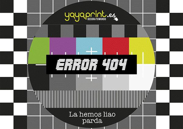 error pagina 404 yayaprint